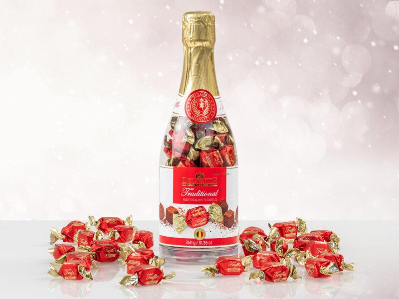 Chokoladetrøffel i Champagneflaske