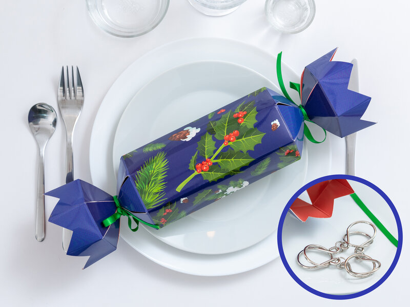 Christmas Crackers med Metalpuslespil 4-pak thumbnail