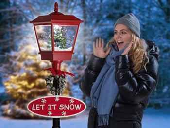 Sneende gadelygte med LED-belysning