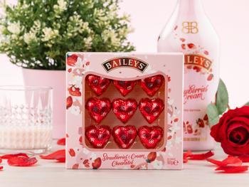 Baileys Strawberries & Cream Chokoladehjerter