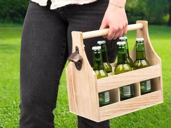 Flaskeholder i Træ
