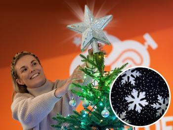 Spralla Juletræsstjerne med Projektor