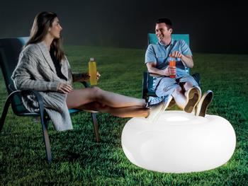 Intex Oppustelig LED-siddepuf