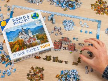Verdens mindste puslespil med 1000 brikker