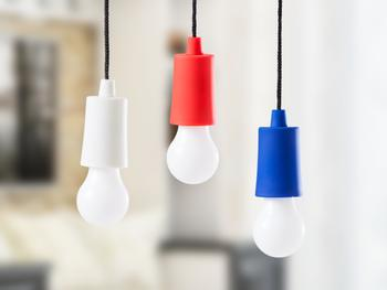 Spralla LED-lampe i Snor