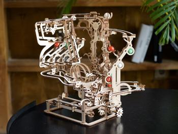 Ugears 3D-puslespil i Træ - Kuglebane
